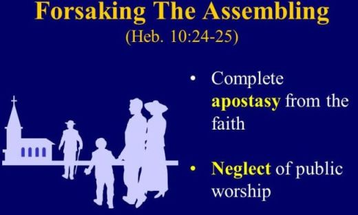 Complete apostasy from the faith. Neglect of public worship.